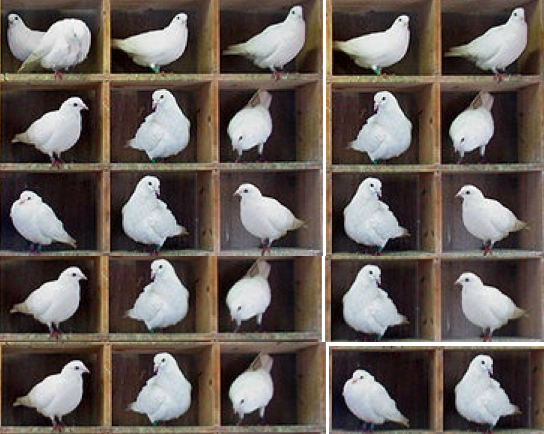 The pigeon hole effect