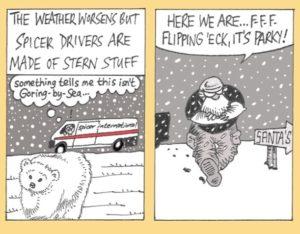 Spicer International snow comic
